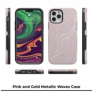 Casely Pink & gold metallic iPhone 12 Pro Max case